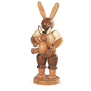 Kleine Figuren & Miniaturen Tiere Hasen Hasenvater mit Kind - 11 cm