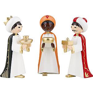 Kleine Figuren & Miniaturen ULMIK Krippe farbig Heilige 3 Könige farbig - 7 cm