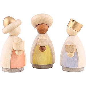 Kleine Figuren & Miniaturen Krippen Heilige Drei Könige lasiert - 8,5 cm