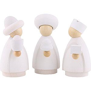 Kleine Figuren & Miniaturen Krippen Heilige Drei Könige - modern weiß/natur - 7,5x11x3,5 cm
