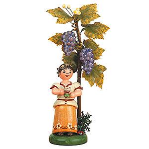Kleine Figuren & Miniaturen Hubrig Herbstkinder Herbstkind - Wein - 13 cm