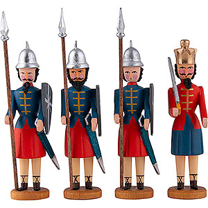 Small Figures & Ornaments All Nativity Figurines Herod and three Soldiers - 10 cm / 3.9 inch
