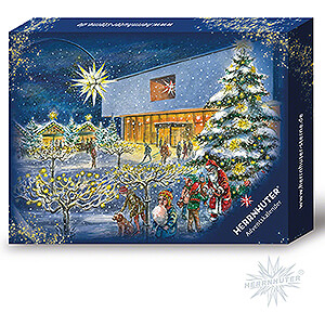Advent Stars and Moravian Christmas Stars Herrnhuter Star A1 Herrnhuter Advent Calendar 2021 with Moravian Star A1b Violet/White