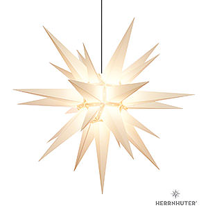 Advent Stars and Moravian Christmas Stars Herrnhuter Star A13 Herrnhuter Moravian Star A13 White Plastic - 130cm/51 inch
