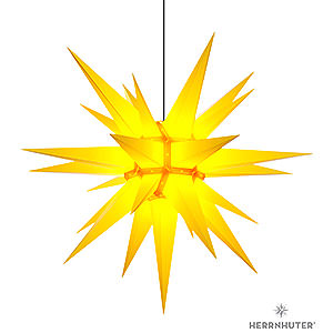 Advent Stars and Moravian Christmas Stars Herrnhuter Star A13 Herrnhuter Moravian Star A13 Yellow Plastic - 130cm/51 inch