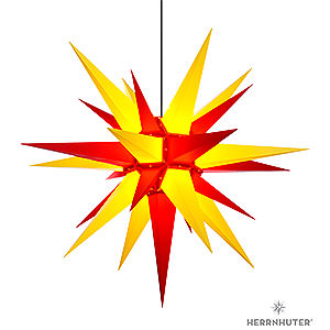 Advent Stars and Moravian Christmas Stars Herrnhuter Star A13 Herrnhuter Moravian Star A13 Yellow/Red Plastic - 130cm/51 inch