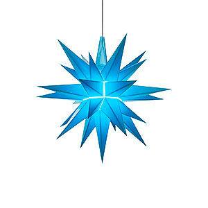 Advent Stars and Moravian Christmas Stars Herrnhuter Star A1 Herrnhuter Moravian Star A1e Blue Plastic - 13 cm/5.1 inch