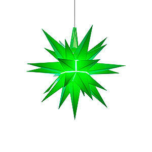 Advent Stars and Moravian Christmas Stars Herrnhuter Star A1 Herrnhuter Moravian Star A1e Green Plastic - 13 cm/5.1 inch