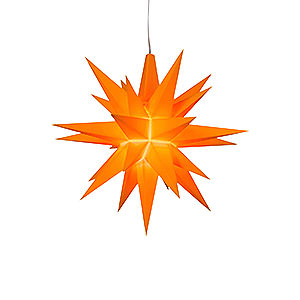 Advent Stars and Moravian Christmas Stars Herrnhuter Star A1 Herrnhuter Moravian Star A1e Orange Plastic, Special Edition 2016 - 13 cm/5.1 inch