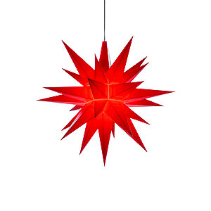 Advent Stars and Moravian Christmas Stars Herrnhuter Star A1 Herrnhuter Moravian Star A1e Red Plastic - 13 cm/5.1 inch