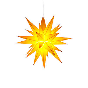 Advent Stars and Moravian Christmas Stars Herrnhuter Star A1 Herrnhuter Moravian Star A1e Yellow Plastic - 13 cm/5.1 inch