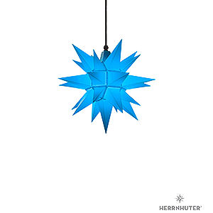 Advent Stars and Moravian Christmas Stars Herrnhuter Star A4 Herrnhuter Moravian Star A4 Blue Plastic - 40cm/16 inch