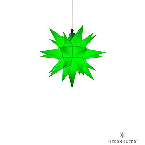 Advent Stars and Moravian Christmas Stars Herrnhuter Star A4 Herrnhuter Moravian Star A4 Green Plastic - 40cm/16 inch