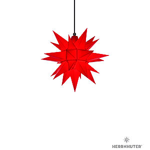 Advent Stars and Moravian Christmas Stars Herrnhuter Star A4 Herrnhuter Moravian Star A4 Red Plastic - 40cm/16 inch