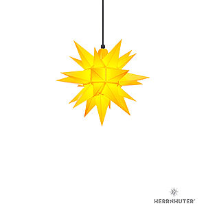 Advent Stars and Moravian Christmas Stars Herrnhuter Star A4 Herrnhuter Moravian Star A4 Yellow Plastic - 40cm/16 inch