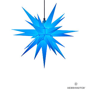 Advent Stars and Moravian Christmas Stars Herrnhuter Star A7 Herrnhuter Moravian Star A7 Blue Plastic - 68cm/27 inch