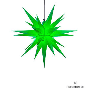 Advent Stars and Moravian Christmas Stars Herrnhuter Star A7 Herrnhuter Moravian Star A7 Green Plastic - 68cm/27 inch