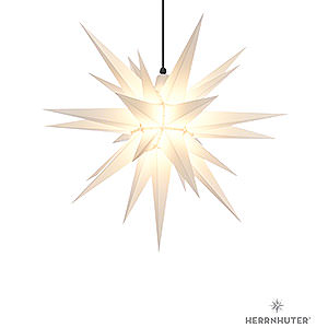Advent Stars and Moravian Christmas Stars Herrnhuter Star A7 Herrnhuter Moravian Star A7 White Plastic - 68cm/27 inch