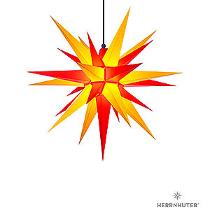 Advent Stars and Moravian Christmas Stars Herrnhuter Star A7 Herrnhuter Moravian Star A7 Yellow/Red Plastic - 68cm/27 inch