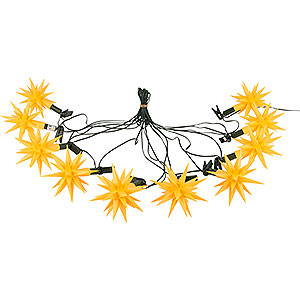 Advent Stars and Moravian Christmas Stars Herrnhuter Star chains Herrnhuter Moravian Star Chain A1s Yellow Plastic - 12m/13yard