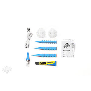 Advent Stars and Moravian Christmas Stars Herrnhuter Star A1 Herrnhuter Moravian Star DIY Kit A1b Blue Plastic - 13 cm/5.1 inch