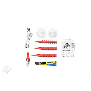 Advent Stars and Moravian Christmas Stars Herrnhuter Star A1 Herrnhuter Moravian Star DIY Kit A1b Red Plastic - 13cm/5.1 inch