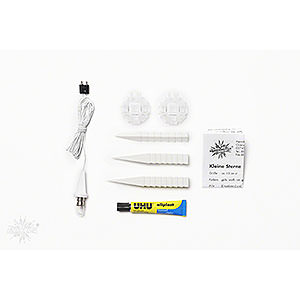 Advent Stars and Moravian Christmas Stars Herrnhuter Star A1 Herrnhuter Moravian Star DIY Kit A1b White Plastic - 13cm/5.1 inch