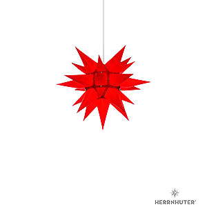 Advent Stars and Moravian Christmas Stars Herrnhuter Star I4 Herrnhuter Moravian Star I4 Red Paper - 40 cm / 15.7 inch