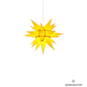 Advent Stars and Moravian Christmas Stars Herrnhuter Star I4 Herrnhuter Moravian Star I4 Yellow Paper - 40 cm / 15.7 inch