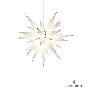 Advent Stars and Moravian Christmas Stars Herrnhuter Star I6 Herrnhuter Moravian Star I6 White Paper - 60 cm / 23.6 inch