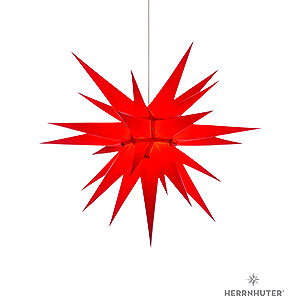 Advent Stars and Moravian Christmas Stars Herrnhuter Star I7 Herrnhuter Moravian Star I7 Red Paper - 70 cm / 27.6 inch