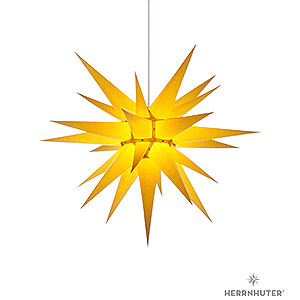 Advent Stars and Moravian Christmas Stars Herrnhuter Star I7 Herrnhuter Moravian Star I7 Yellow Paper - 70 cm / 27.6 inch