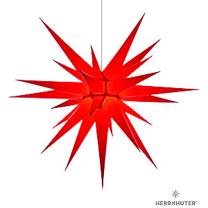 Advent Stars and Moravian Christmas Stars Herrnhuter Star I8 Herrnhuter Moravian Star I8 Red Paper - 80cm/31 inch