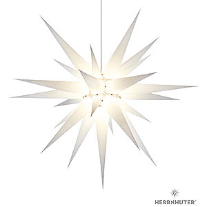 Advent Stars and Moravian Christmas Stars Herrnhuter Star I8 Herrnhuter Moravian Star I8 White Paper - 80cm/31 inch