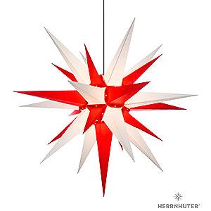 Adventssterne und Weihnachtssterne Herrnhuter Stern A13 Herrnhuter Stern A13 weiss/rot Kunststoff - 130 cm