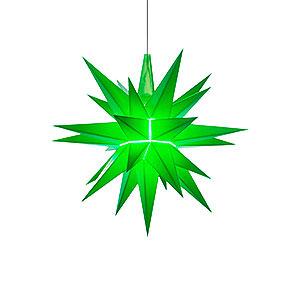 Adventssterne und Weihnachtssterne Herrnhuter Stern A1 Herrnhuter Stern A1e grün Kunststoff - 13 cm