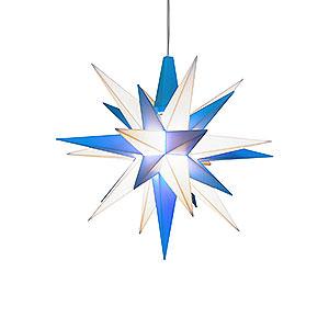 Adventssterne und Weihnachtssterne Herrnhuter Stern A1 Herrnhuter Stern A1e weiß/blau Kunststoff - 13 cm