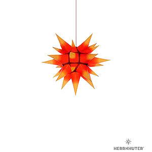 Adventssterne und Weihnachtssterne Herrnhuter Stern I4 Herrnhuter Stern I4 gelb/roter Kern Papier - 40 cm