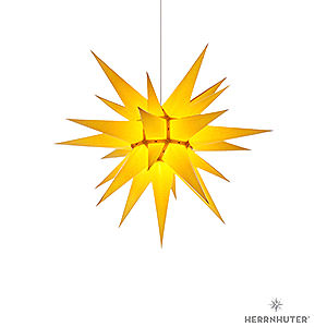 Adventssterne und Weihnachtssterne Herrnhuter Stern I6 Herrnhuter Stern I6 gelb Papier - 60 cm