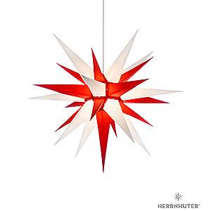 Adventssterne und Weihnachtssterne Herrnhuter Stern I7 Herrnhuter Stern I7 weiß/rot Papier - 70 cm