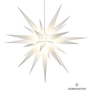 Adventssterne und Weihnachtssterne Herrnhuter Stern I8 Herrnhuter Stern I8 weiß Papier - 80 cm