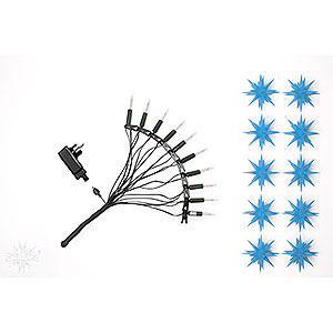 Adventssterne und Weihnachtssterne Herrnhuter Sternenketten Herrnhuter Sternenkette A1s blau Kunststoff - 12 m