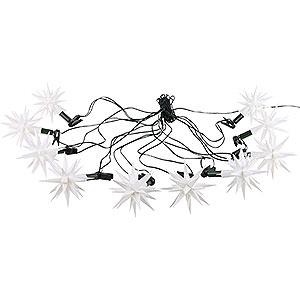 Adventssterne und Weihnachtssterne Herrnhuter Sternenketten Herrnhuter Sternenkette A1s weiß Kunststoff - 12 m