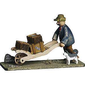 Small Figures & Ornaments Günter Reichel Born Country Hiemann's Toy Delivery - 7 cm / 2.8 inch
