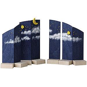 Weihnachtsengel Günter Reichel Schutzengel Hintergrund Nachthimmel - 13 cm