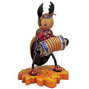 Kleine Figuren & Miniaturen Tiere Käfer Hirschkäfer mit Ziehharmonika - 8 cm