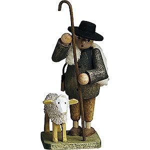 Kleine Figuren & Miniaturen Günter Reichel Figuren vom Lande Hirte mit Schaf - 7 cm