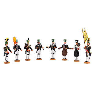 Small Figures & Ornaments Walter Werner Figurines Historic Miners' Parade - Below Ground - 8 pieces - 8 cm / 3.1 inch