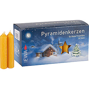 Lichterwelt Kerzen Hochwertige Pyramidenkerzen honigfarben - 1,4 cm Durchmesser