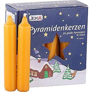 Lichterwelt Kerzen Hochwertige Pyramidenkerzen honigfarben - 1,7 cm Durchmesser